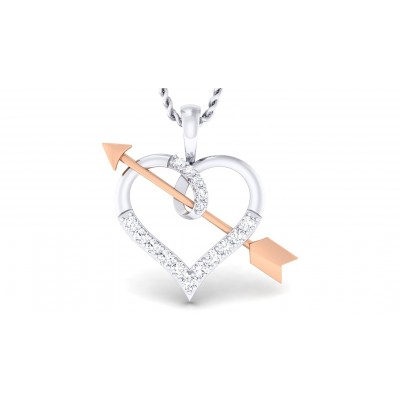 ARIA DIAMOND HEARTS PENDANT in 18K Gold