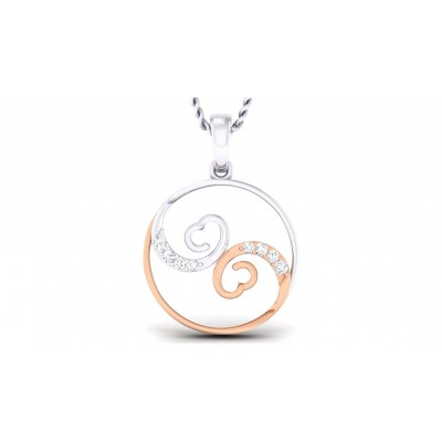 SHICHI DIAMOND HEARTS PENDANT in 18K Gold