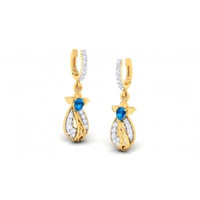 TINLEY DIAMOND DROPS EARRINGS in Sapphire & 18K Gold