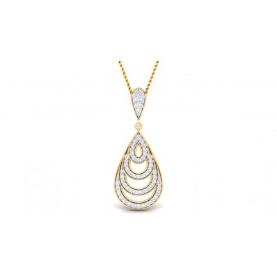 NICOLE DIAMOND FASHION PENDANT in 18K Gold