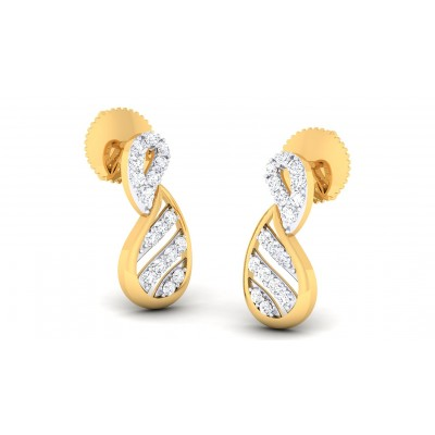 BREA DIAMOND STUDS EARRINGS in 18K Gold