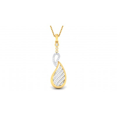 KIMBER DIAMOND FASHION PENDANT in 18K Gold