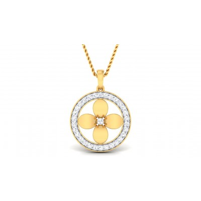 RAMBHA DIAMOND FLORAL PENDANT in 18K Gold