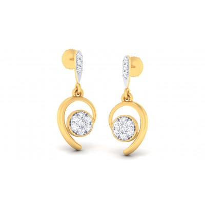 REAGAN DIAMOND DROPS EARRINGS in 18K Gold