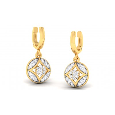 CECELIA DIAMOND DROPS EARRINGS in 18K Gold