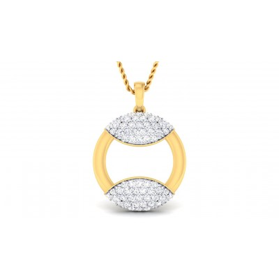 CYNTHIA DIAMOND FASHION PENDANT in 18K Gold