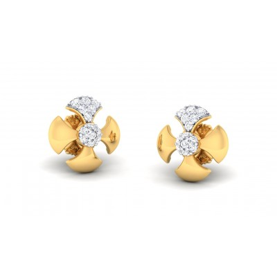 GAURIKA DIAMOND STUDS EARRINGS in 18K Gold