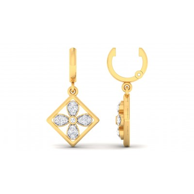 MITHILA DIAMOND DROPS EARRINGS in 18K Gold