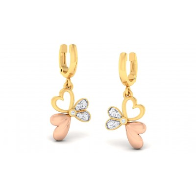 SHASHA DIAMOND DROPS EARRINGS in 18K Gold