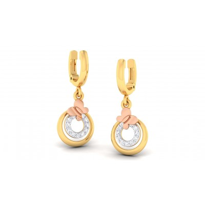 VRITIKA DIAMOND DROPS EARRINGS in 18K Gold