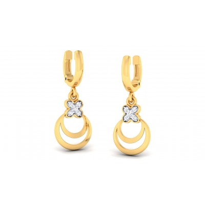KAYLAH DIAMOND DROPS EARRINGS in 18K Gold