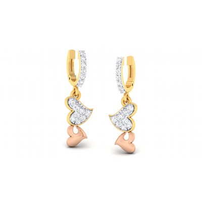 ZORA DIAMOND DROPS EARRINGS in 18K Gold