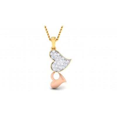REYNA DIAMOND HEARTS PENDANT in 18K Gold
