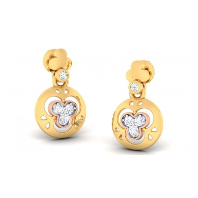 BELEN DIAMOND DROPS EARRINGS in 18K Gold