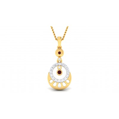 DARA DIAMOND FASHION PENDANT in 18K Gold