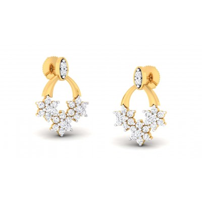 BABY DIAMOND STUDS EARRINGS in 18K Gold