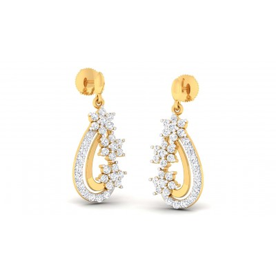FATIMA DIAMOND DROPS EARRINGS in 18K Gold
