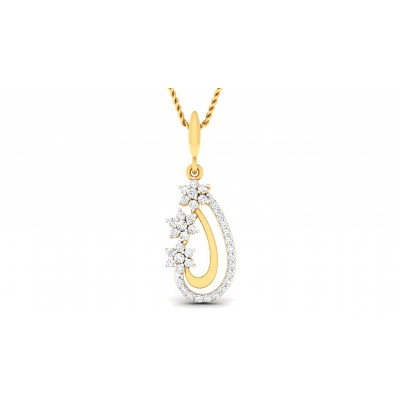 CALISTA DIAMOND FASHION PENDANT in 18K Gold