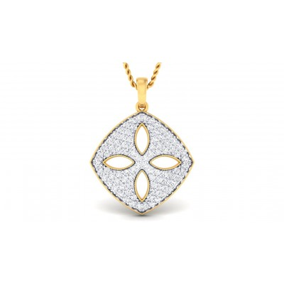 ZAYA DIAMOND FLORAL PENDANT in 18K Gold