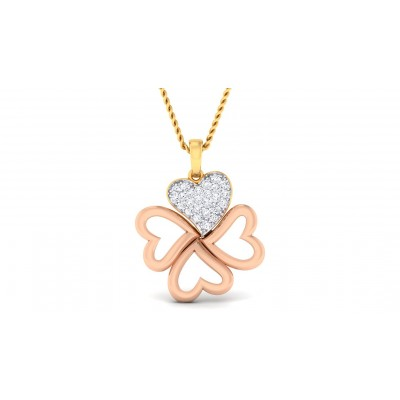 ANDAL DIAMOND HEARTS PENDANT in 18K Gold