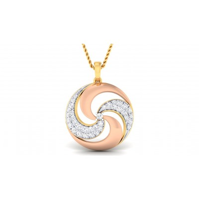 MENAJA DIAMOND FASHION PENDANT in 18K Gold