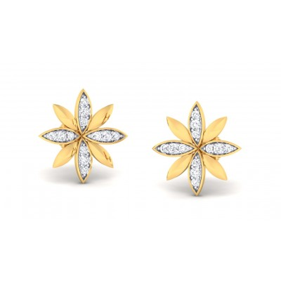ARCHINI DIAMOND STUDS EARRINGS in 18K Gold
