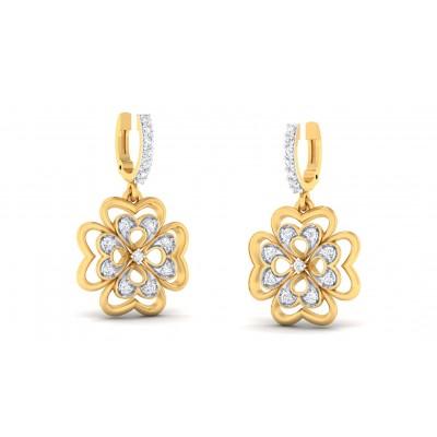 LILA DIAMOND DROPS EARRINGS in 18K Gold
