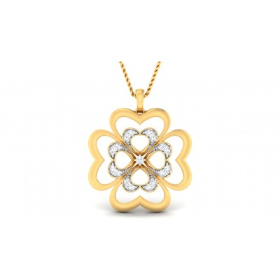 AKULA DIAMOND FLORAL PENDANT in 18K Gold