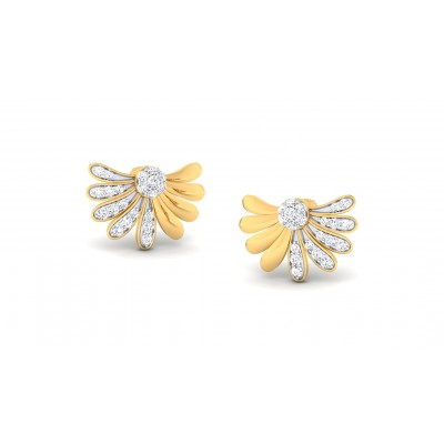 ARYA DIAMOND STUDS EARRINGS in 18K Gold