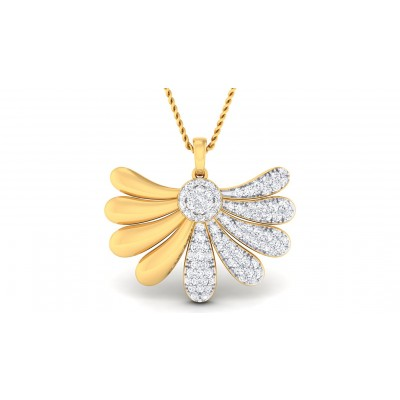 ZARIA DIAMOND FLORAL PENDANT in 18K Gold