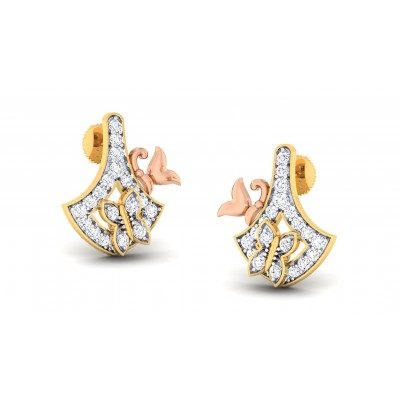 CYNTHIA DIAMOND STUDS EARRINGS in 18K Gold