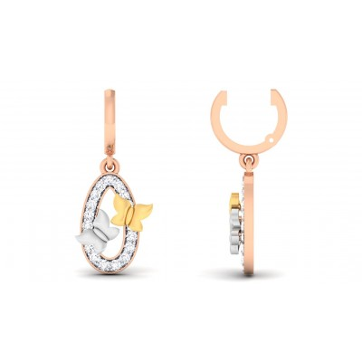 SEQUOIA DIAMOND DROPS EARRINGS in 18K Gold