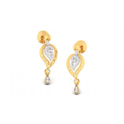 MAYLENE DIAMOND DROPS EARRINGS in 18K Gold