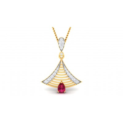 ASHMI DIAMOND FASHION PENDANT in Ruby & 18K Gold