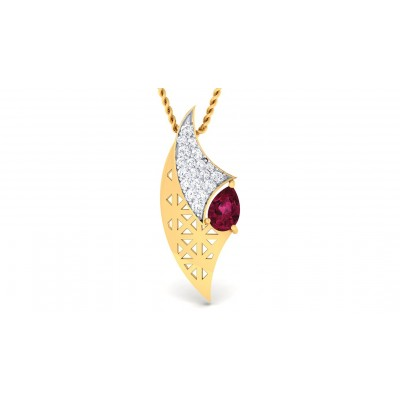 ANCHALA DIAMOND FASHION PENDANT in Ruby & 18K Gold