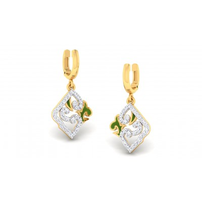 RUSHDA DIAMOND DROPS EARRINGS in 18K Gold