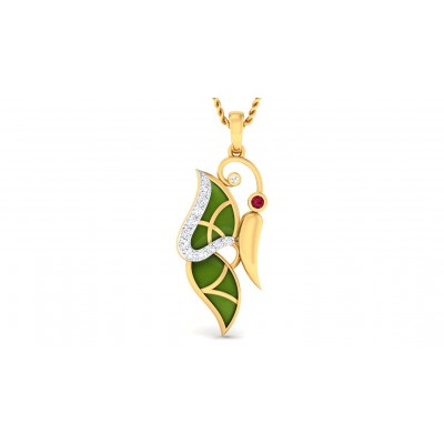 PANKTI DIAMOND FLORAL PENDANT in 18K Gold