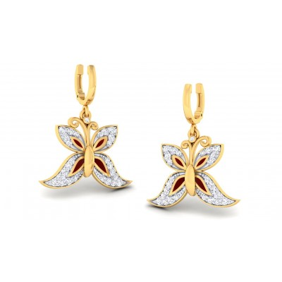 SHILA DIAMOND DROPS EARRINGS in 18K Gold