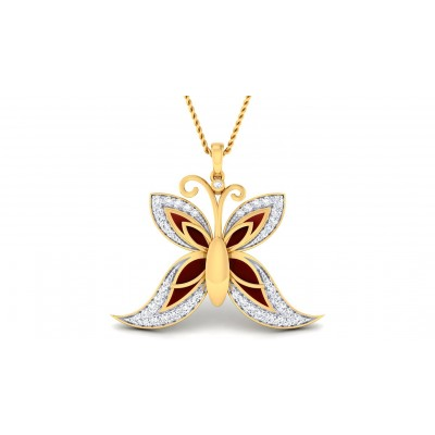 RYLIN DIAMOND FLORAL PENDANT in 18K Gold