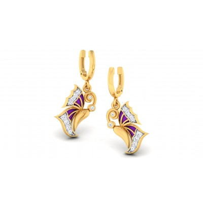 VANANI DIAMOND DROPS EARRINGS in 18K Gold