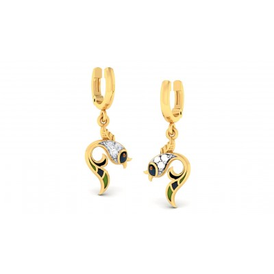 ANOKHI DIAMOND DROPS EARRINGS in 18K Gold