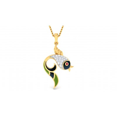AMODA DIAMOND FASHION PENDANT in 18K Gold