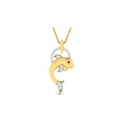 DEVKI DIAMOND FASHION PENDANT in 18K Gold