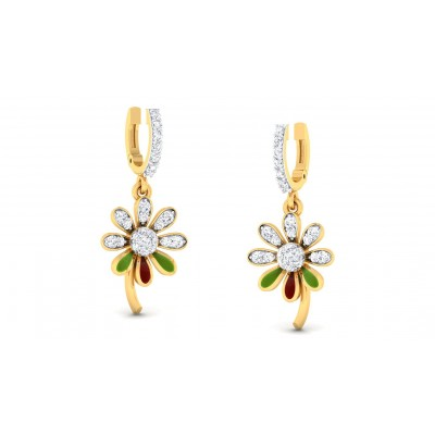 AVNITA DIAMOND DROPS EARRINGS in 18K Gold
