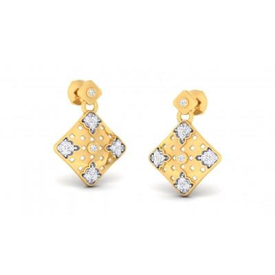 AJITA DIAMOND DROPS EARRINGS in 18K Gold