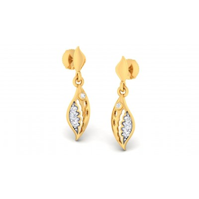 MIYA DIAMOND DROPS EARRINGS in 18K Gold