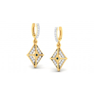 RESHAM DIAMOND DROPS EARRINGS in 18K Gold