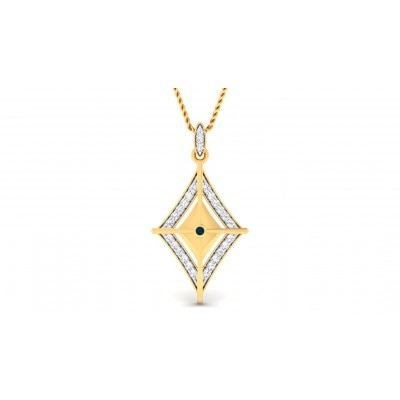 AYSHA DIAMOND FASHION PENDANT in 18K Gold