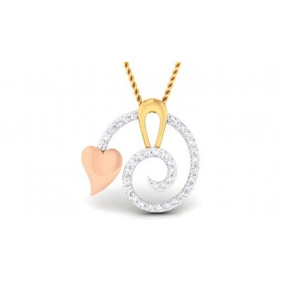MATRA DIAMOND HEARTS PENDANT in 18K Gold