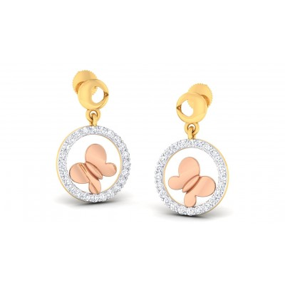 RAMA DIAMOND DROPS EARRINGS in 18K Gold